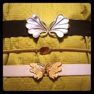 Three Retro Stretch Belts